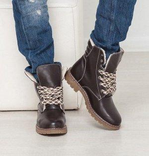 Кожаные ботинки Comfort цвета шоколад