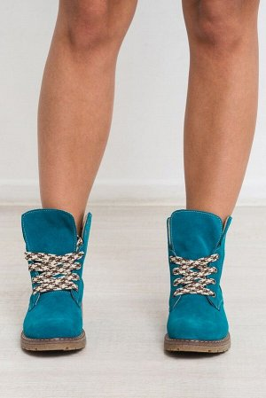 Замшевые ботинки Comfort цвета морская волна