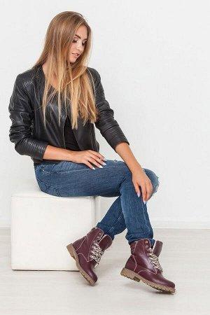 Бордовые кожаные ботинки Comfort