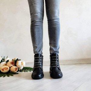 Черные кожаные ботинки Flavor