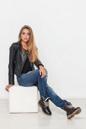 Черные кожаные ботинки Comfort