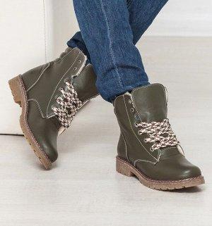 Кожаные ботинки Comfort цвета хаки