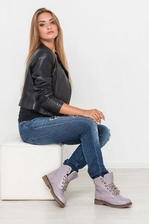 Кожаные ботинки Comfort цвет лаванда