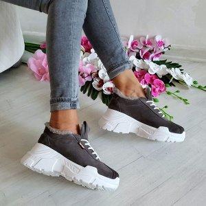 Серые замшевые кроссовки POWER