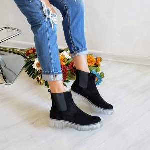 Черные замшевые ботинки CHELSEA ICE