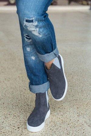 Серые замшевые ботинки CHELSEA