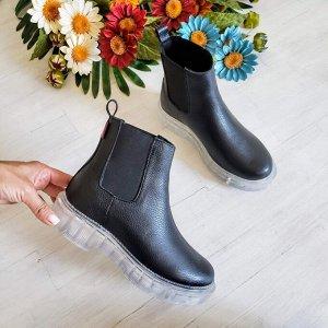 Черные кожаные ботинки CHELSEA ICE
