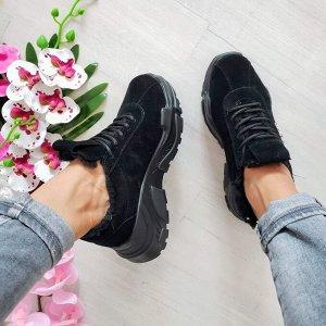 Черные замшевые кроссовки POWER