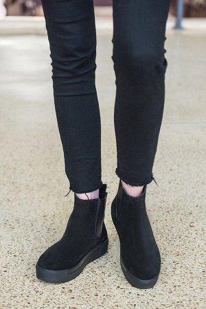 Черные замшевые ботинки CHELSEA