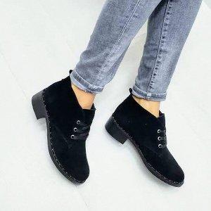 Черные замшевые ботинки Desert