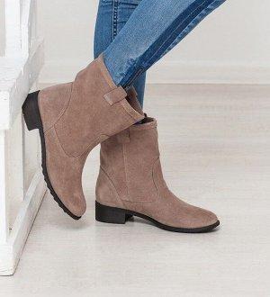 Бежевые замшевые ботинки Impressa