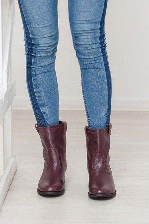 Бордовые кожаные ботинки Impressa