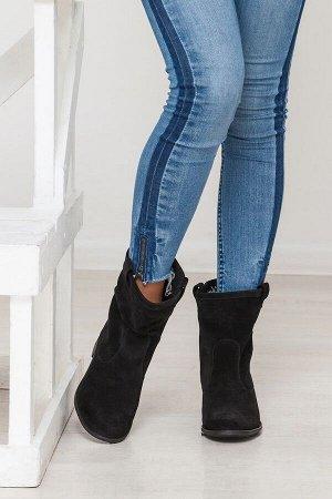 Черные замшевые ботинки Impressa