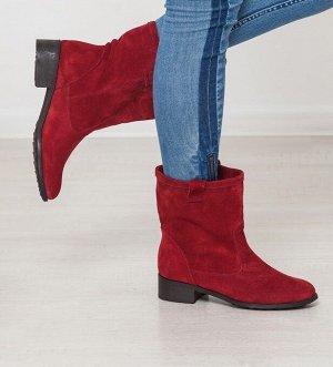 Бордовые замшевые ботинки Impressa