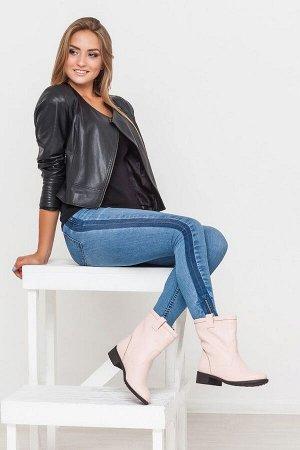 Пудровые кожаные ботинки Impressa