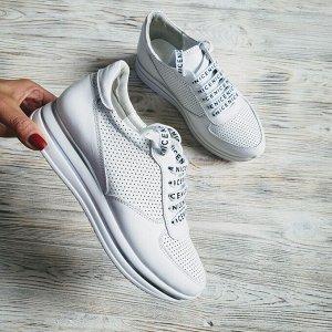 Белые кожаные кроссовки SOFI
