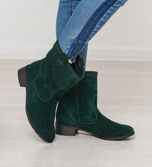 Темно-зеленые замшевые ботинки Impressa