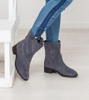 Серые замшевые ботинки Impressa