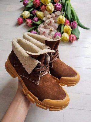 Замшевые ботинки LookLike цвета кэмел