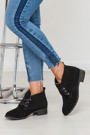 Черные замшевые ботинки Classic