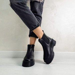 Черные кожаные ботинки CHELSEA Dr.