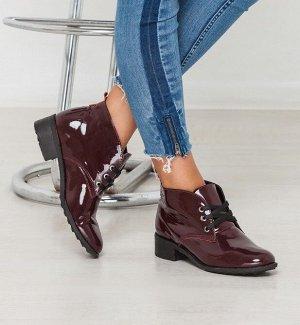 Бордовые лакированные ботинки Classic