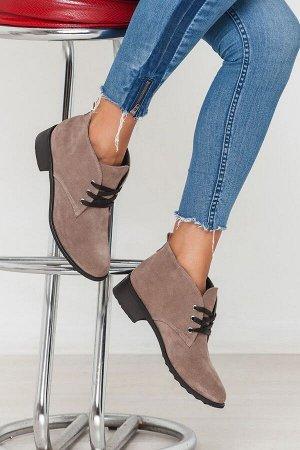 Бежевые  замшевые ботинки Classic