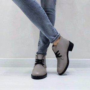 Бежевые кожаные ботинки Desert