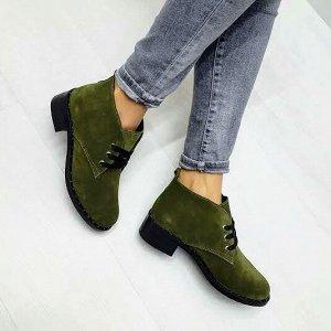 Замшевые ботинки Desert цвета хаки