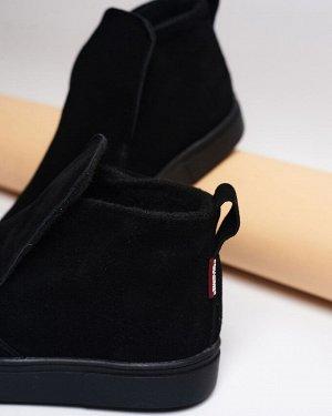 Черные замшевые слипоны ANKLE SLIP JB