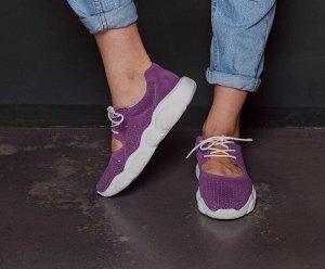 Фиолетовые замшевые кроссовки TED DREAM