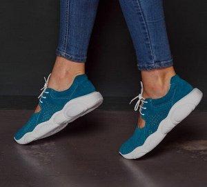 Замшевые кроссовки TED DREAM цвета морская волна