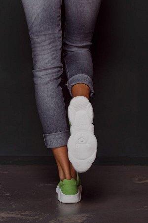 Замшевые кроссовки TED DREAM цвета яблоко