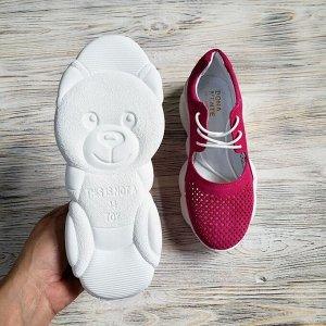 Замшевые кроссовки TED DREAM цвета фуксия