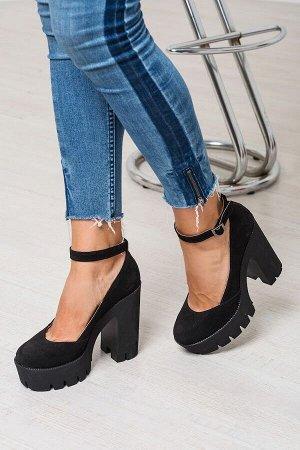 Черные замшевые туфли Mary Jane