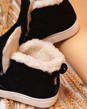 Черные замшевые слипоны ANKLE SLIP