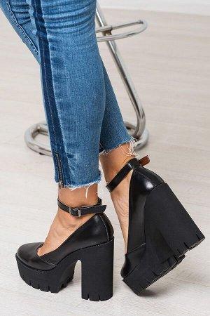 Черные кожаные туфли Mary Jane
