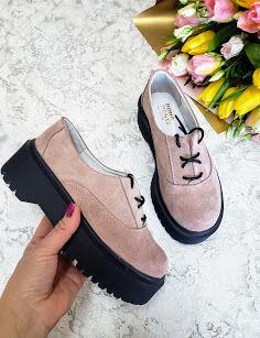Пудровые замшевые туфли Doctor