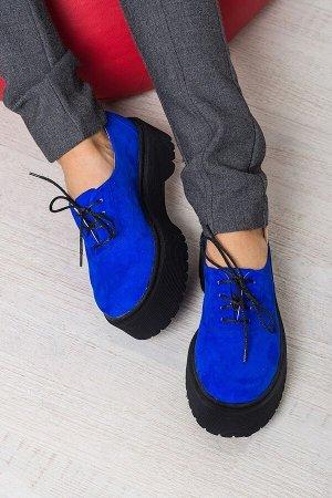 Синие замшевые туфли Doctor