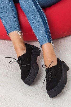 Черные замшевые туфли Doctor