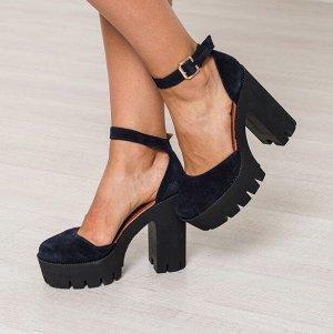Синие замшевые туфли Yoke