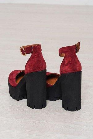 Бордовые замшевые туфли Yoke