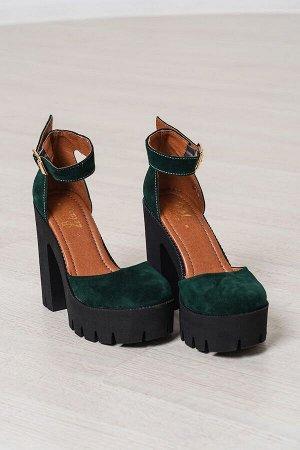 Зеленые замшевые туфли Yoke