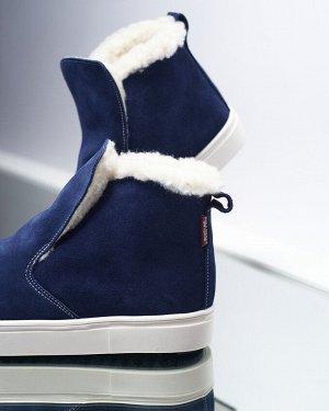 Синие замшевые слипоны ANKLE SLIP