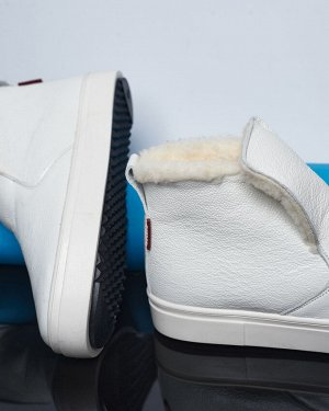 Белые кожаные слипоны ANKLE SLIP
