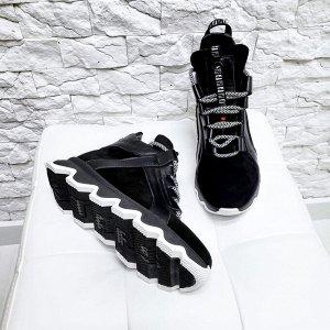 Черные замшевые хайтопы SKATE