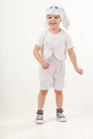 """Новогодний костюм Заяц белый """"Ваня"""" размер 98-52"""