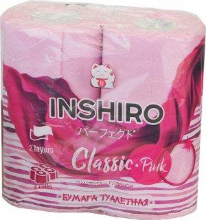 Бумага туалетная INSHIRO Розовый  2-х сл. 4шт. в упак. 1/12 5С24IP