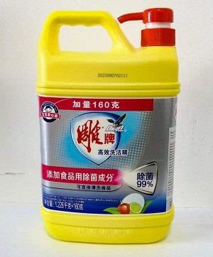 Средство для мытья посуды DIAO с ароматом лимона 1288 мл+160 мл