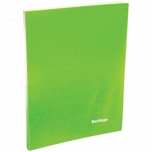 """Папка c зажимом Berlingo """"Neon"""", 17мм, 700мкм, неоновая зеленая"""